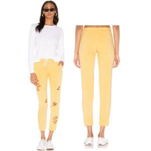 NWT- Monrow Sporty Distressed Sweats in Golden Sun